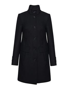 女式立领毛纺大衣